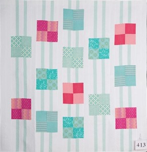 Professional bed quilts. 2nd. Judi Schon 'Squaremint'