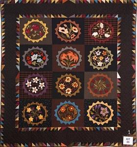 Kitset quilts:  Highly commended. Elizabeth Sadler 'Floral potager'