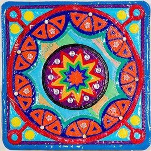Mixed Media. 1st. Sheena Brook 'Recycled Mandala'